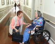Ombudsman with long-term care resident